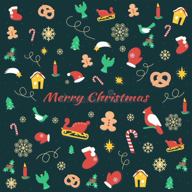 Fundo do Natal, telha sem emenda ilustração stock