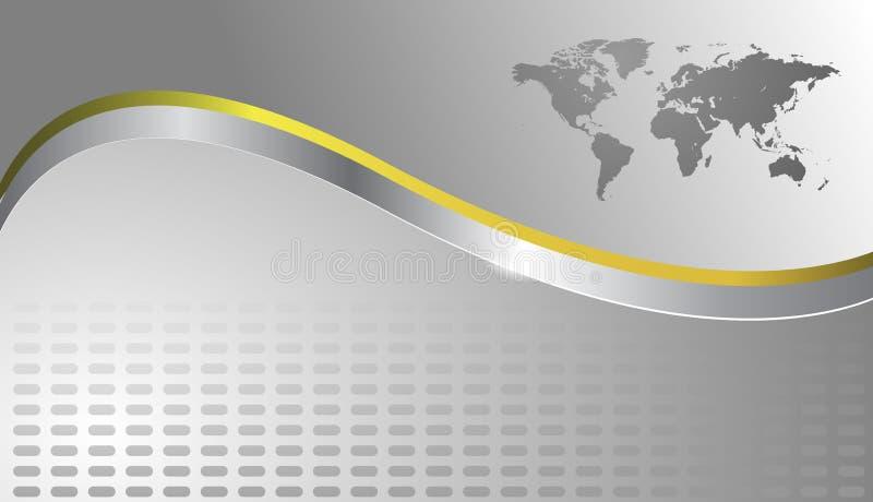 Fundo do negócio com mapa de mundo ilustração do vetor