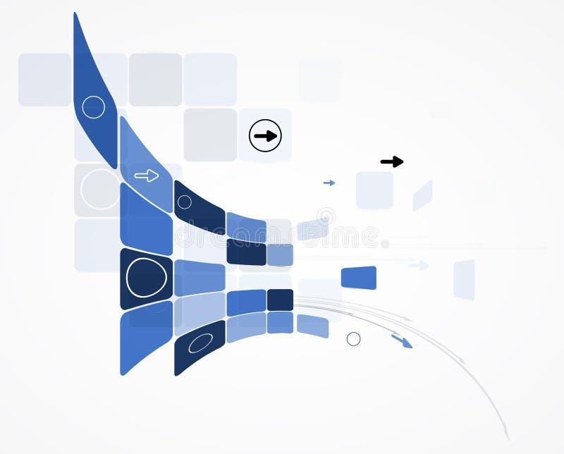 Fundo do negócio do conceito da nova tecnologia do computador da infinidade ilustração royalty free