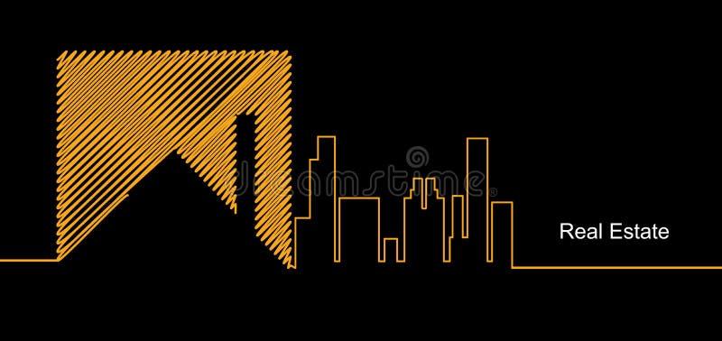 Fundo do negócio do espelho do circuito da cidade dos bens imobiliários