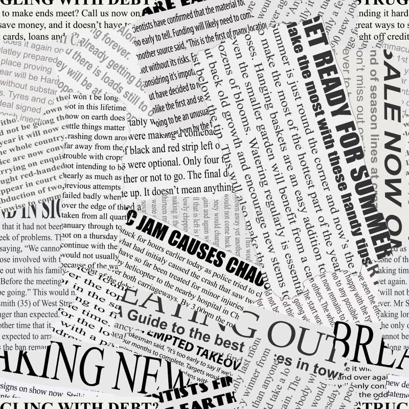 Fundo do Newsprint ilustração do vetor