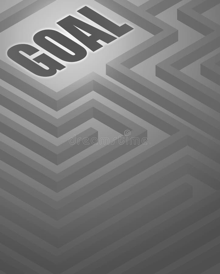Fundo do objetivo do labirinto ilustração stock