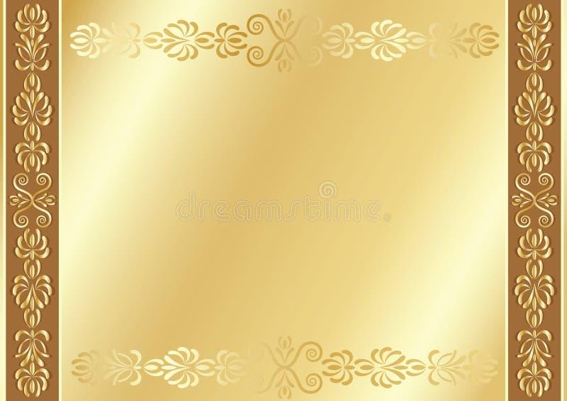 Fundo do ornamental do ouro. ilustração stock