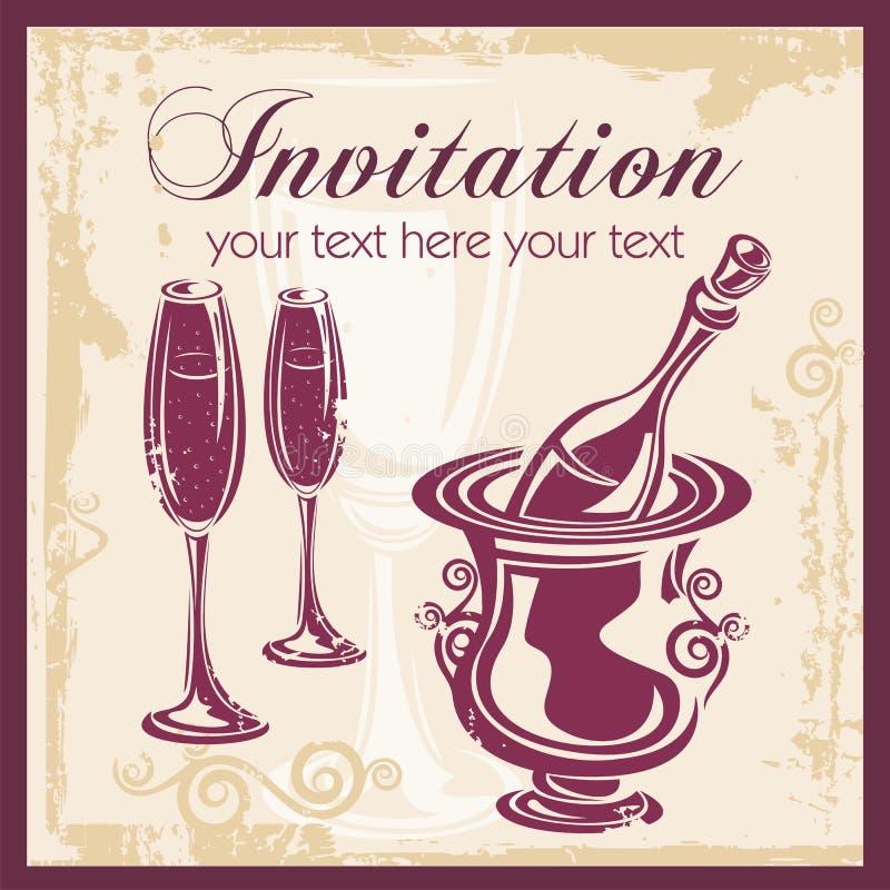 Fundo do Ornamental do vinho ilustração royalty free