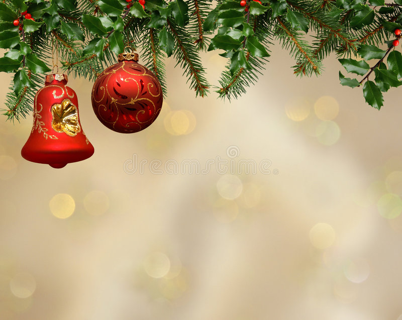 Fundo do ornamento do Natal foto de stock royalty free