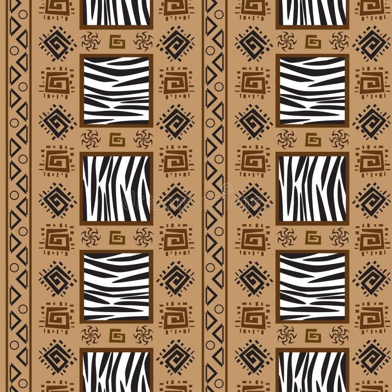 Fundo do ornamento do stile de África ilustração do vetor