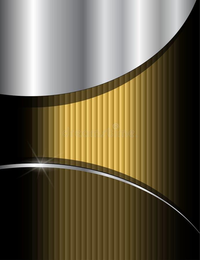 Fundo do ouro ilustração do vetor