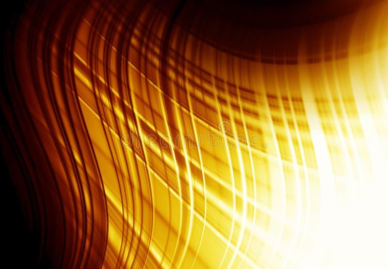 Fundo do ouro de Abstracti para o cartão ilustração do vetor