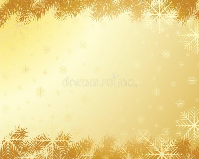 Fundo do ouro do Natal ilustração stock