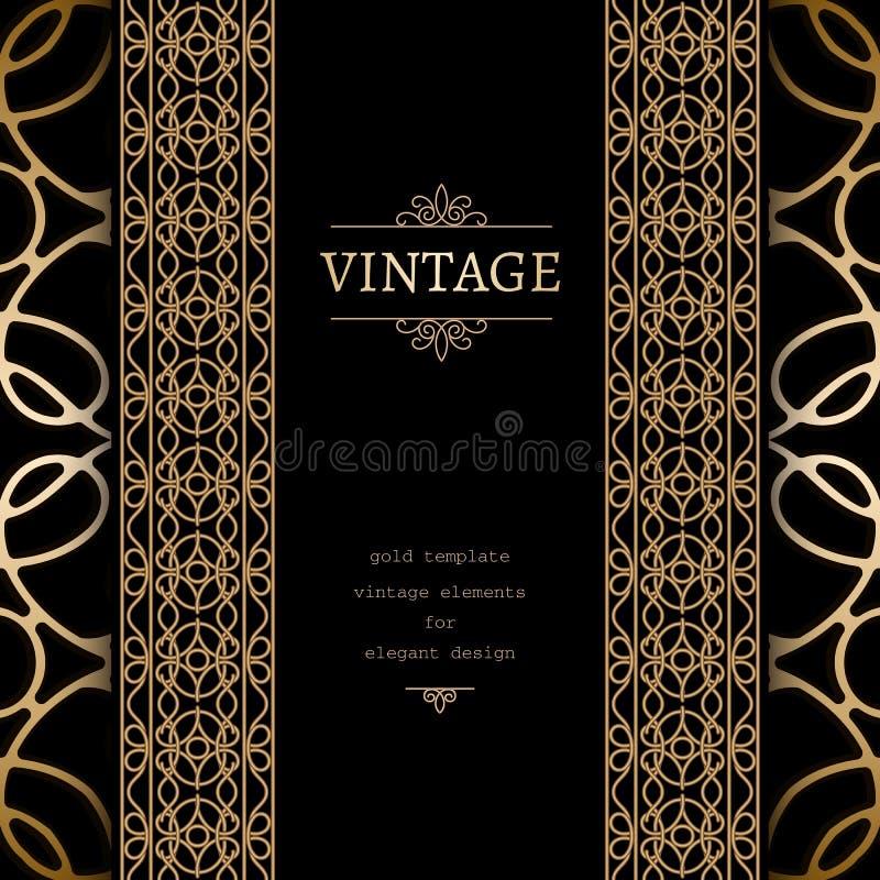 Fundo do ouro do vintage ilustração stock