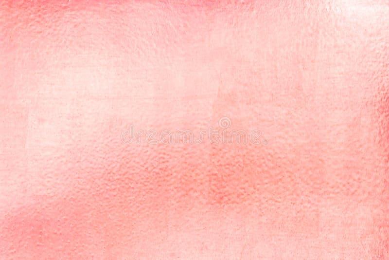 Fundo do ouro ou texturas e sombras cor-de-rosa, paredes velhas e riscos foto de stock royalty free