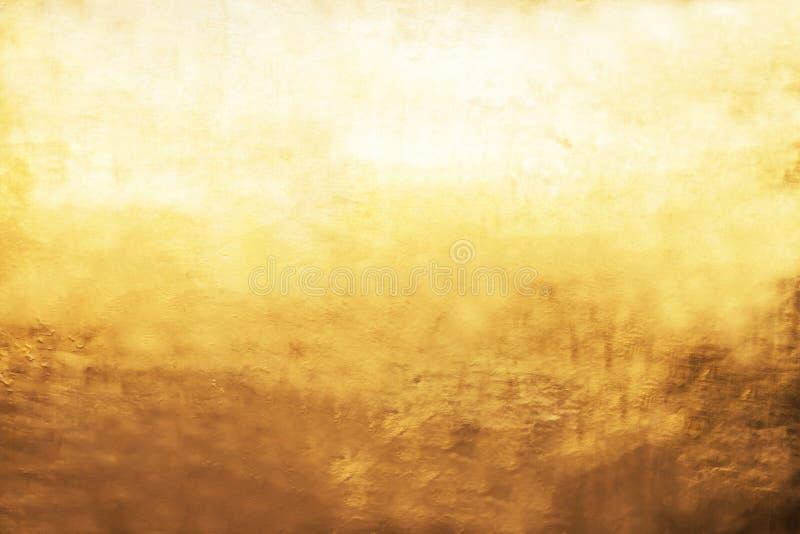 Fundo do ouro ou texturas e sombras, paredes velhas e riscos foto de stock royalty free