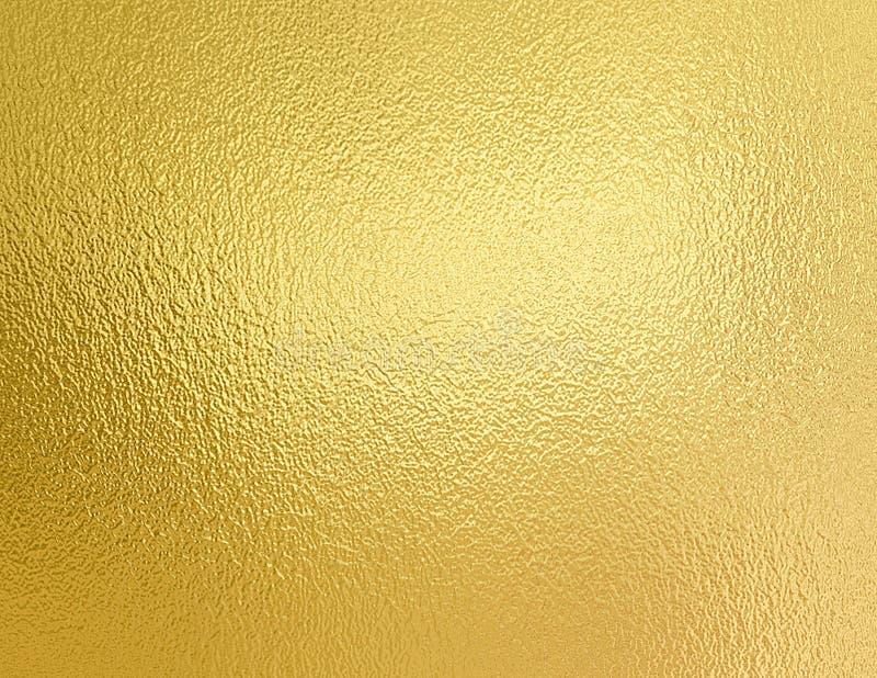 Fundo do ouro Textura decorativa da folha dourada fotografia de stock royalty free