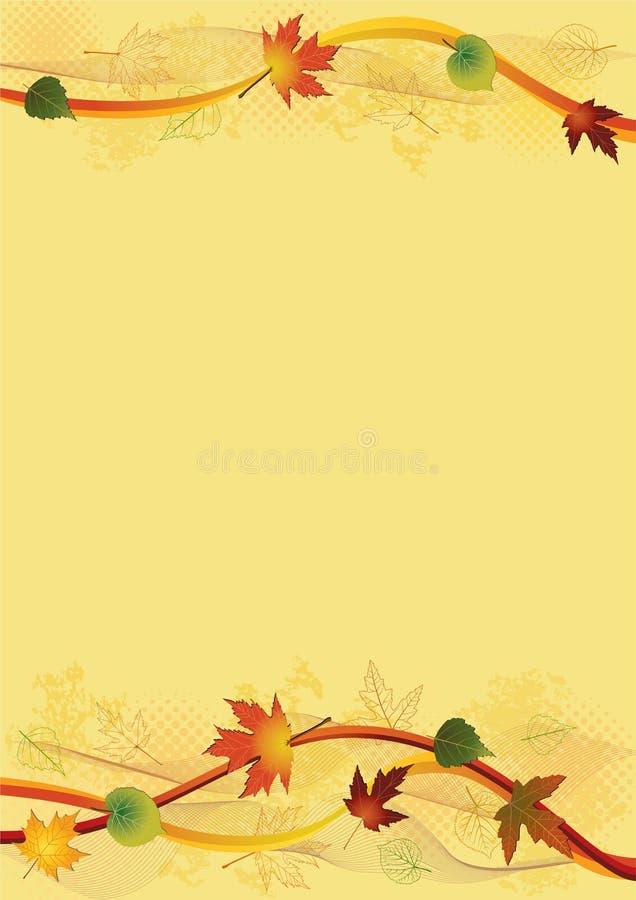 Fundo do outono. ilustração stock