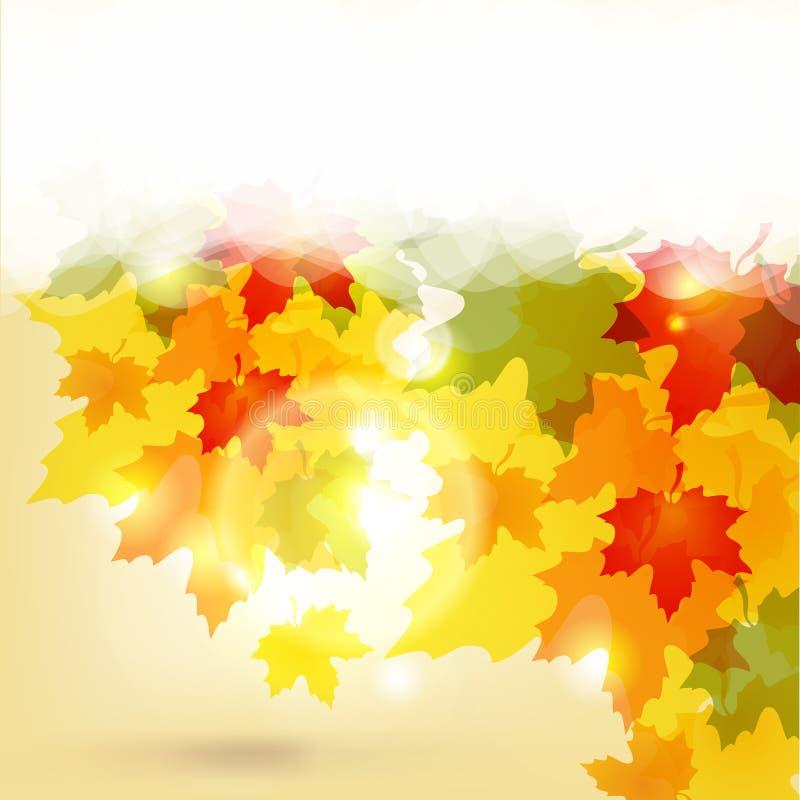 Fundo do outono com folhas ilustração stock