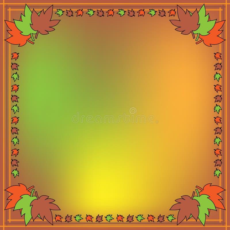 Fundo do outono com folhas coloridas ilustração royalty free