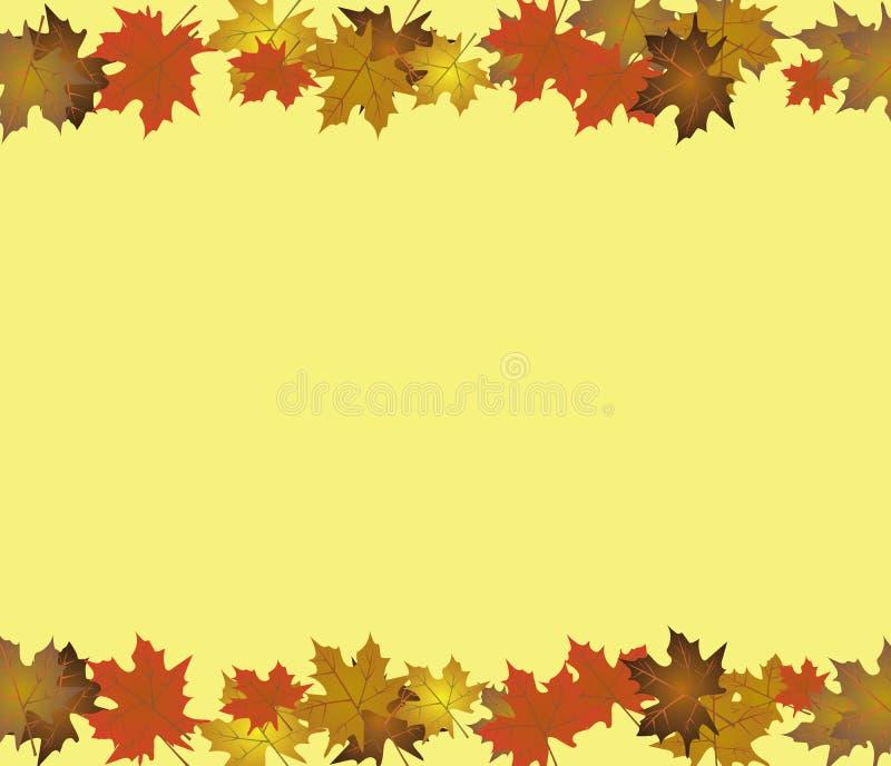 Fundo do outono com folhas de plátano ilustração royalty free