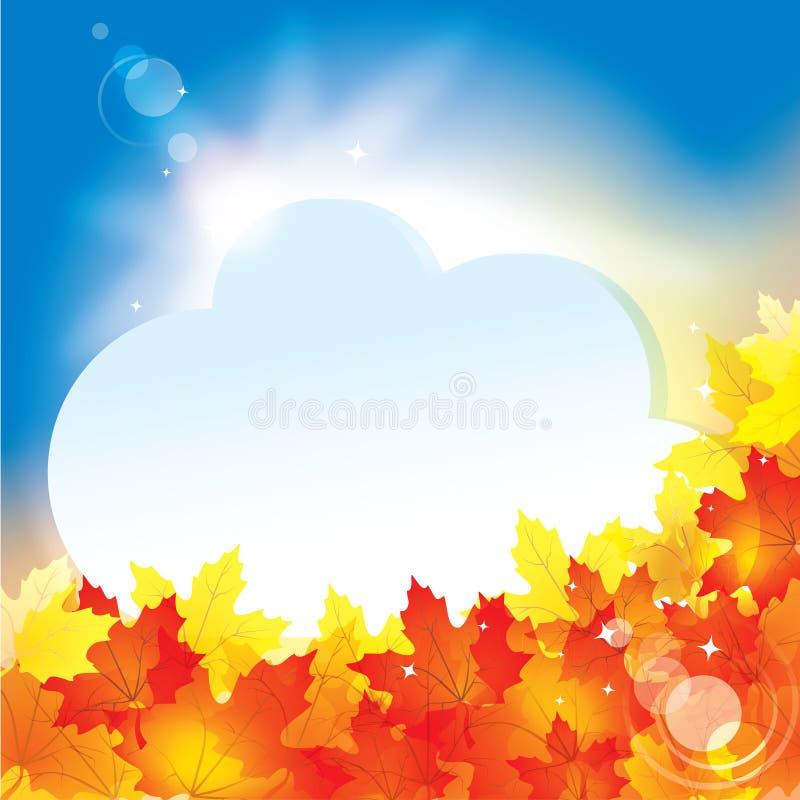 Fundo do outono com folhas/eps10 ilustração do vetor