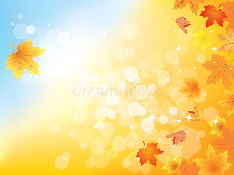 Fundo do outono com folhas/eps10 ilustração stock