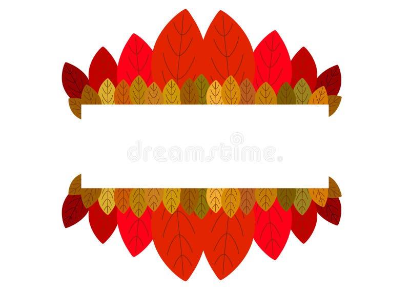 Fundo do outono e folhas de um bordo ilustração stock