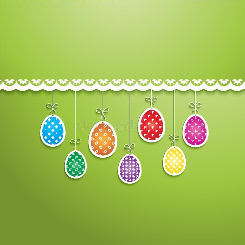 Fundo do ovo da páscoa ilustração royalty free