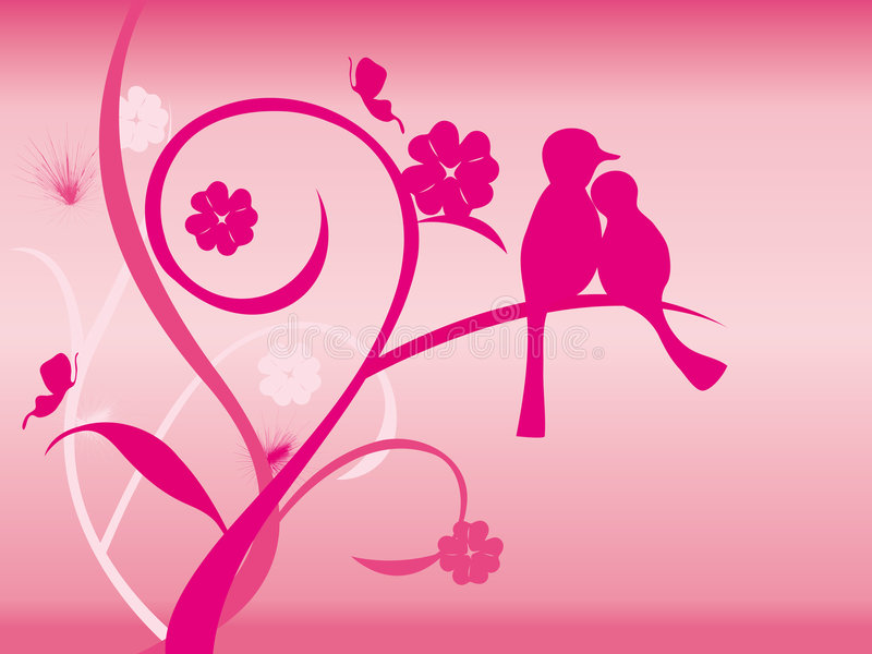 Fundo do pássaro do amor ilustração stock