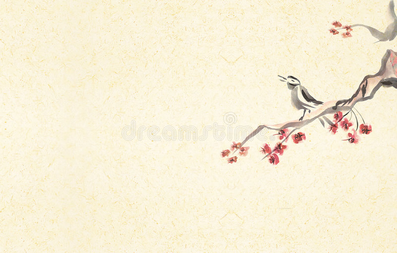 Fundo do pássaro do canto ilustração stock