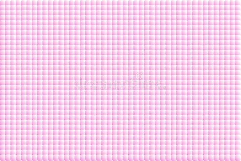 Fundo do pó Rosa, bolhas transparentes abstratas do pó Ilustração do vetor Textura da repetição da telha ilustração do vetor