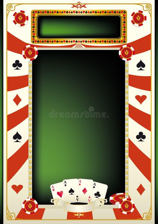 Fundo do póquer ilustração stock