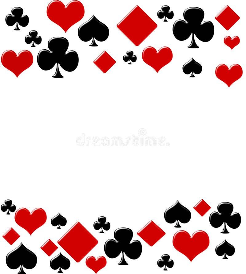 Fundo do póquer ilustração do vetor