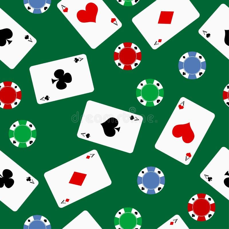 Fundo do póquer ilustração royalty free