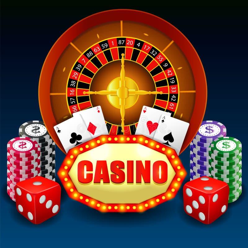 Fundo do pôquer do casino ilustração royalty free