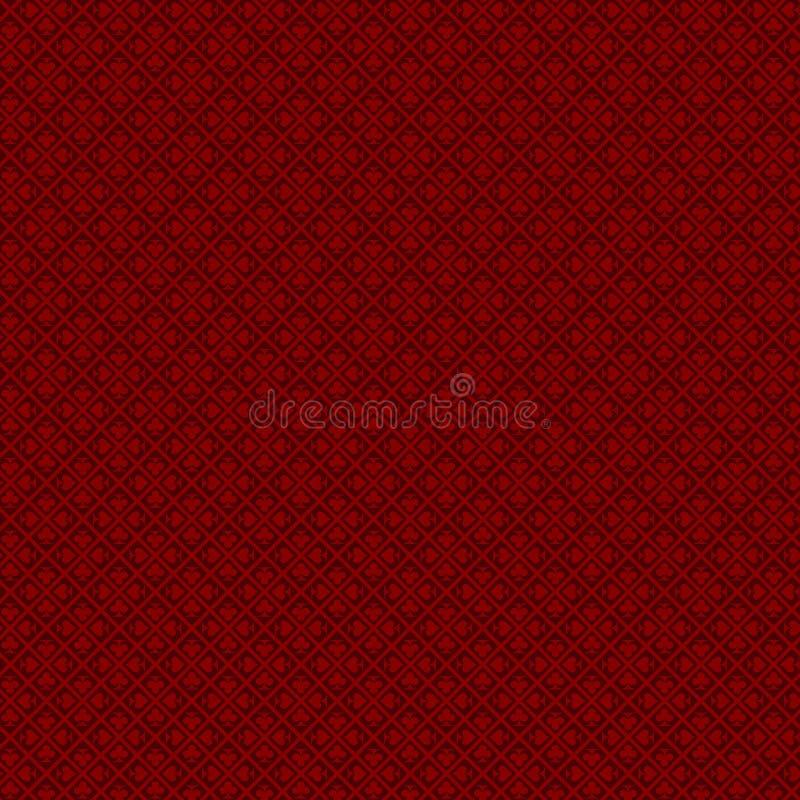 Fundo do pôquer do casino com obscuridade - cores vermelhas ilustração royalty free