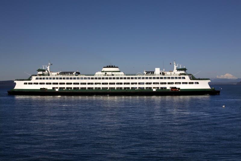 Fundo do padeiro do Mt do ferryboat do estado de Washington imagem de stock royalty free