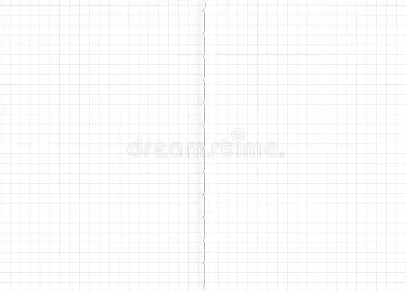 Fundo do papel da grade do caderno O preto alinhou no Livro Branco, fundo de papel das texturas para o trabalho do projeto De vol imagens de stock