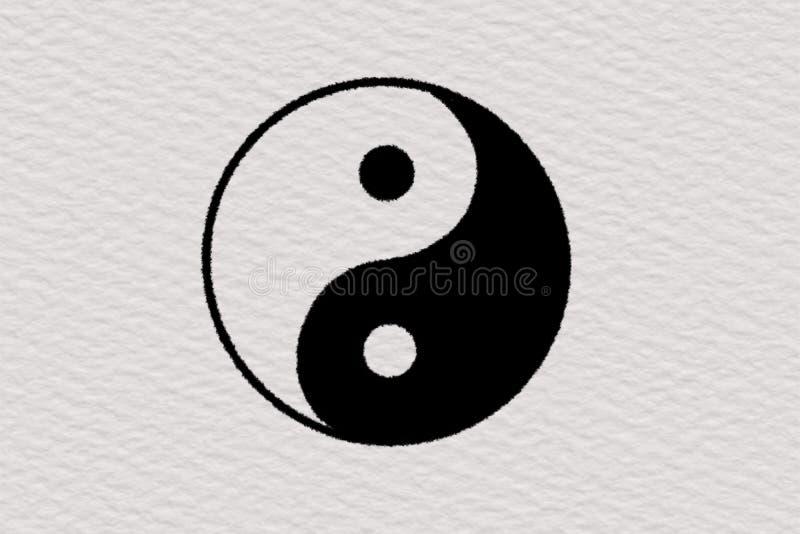 Fundo do papel da ilustração de Ying e de yang ilustração stock