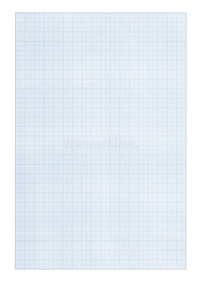 Fundo do papel de gráfico - cor azul ilustração stock