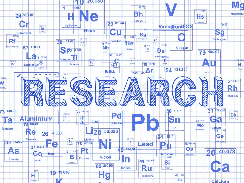 Fundo do papel de gráfico do elemento da pesquisa ilustração stock