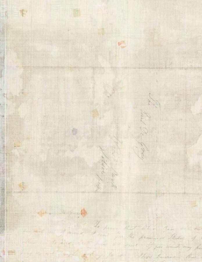Fundo do papel de letra do vintage foto de stock