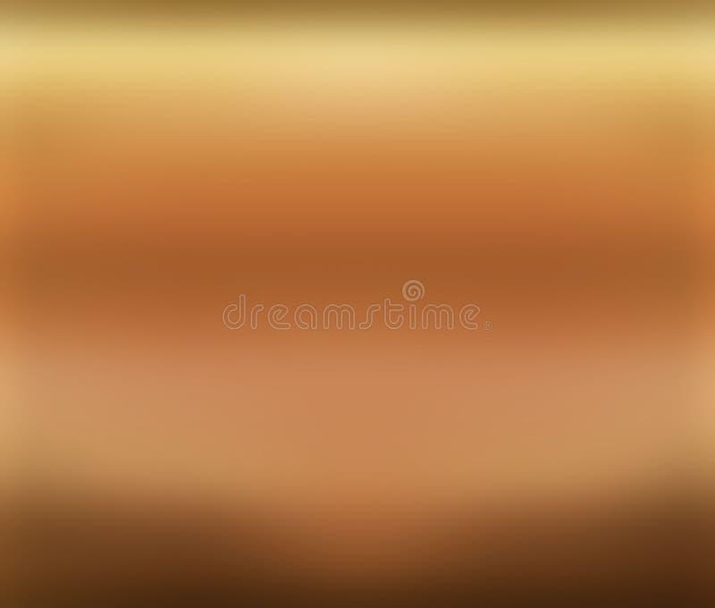 Fundo do papel de parede da placa de cobre ilustração do vetor