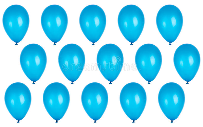 Fundo do partido com balões azuis imagens de stock royalty free