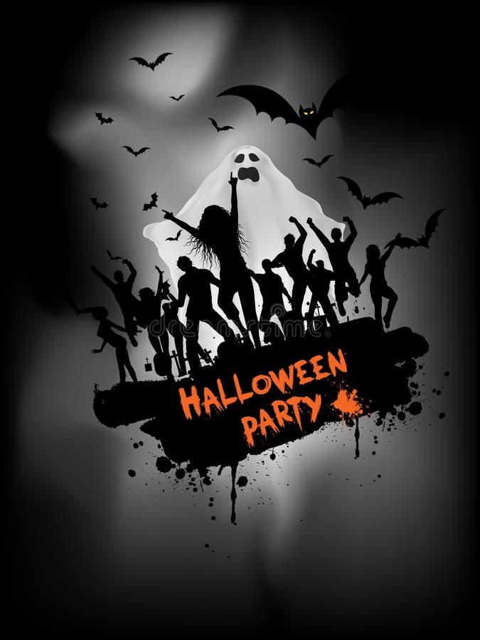Fundo do partido de Grunge Halloween ilustração stock