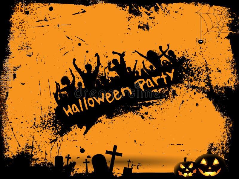 Fundo do partido de Grunge Halloween ilustração royalty free