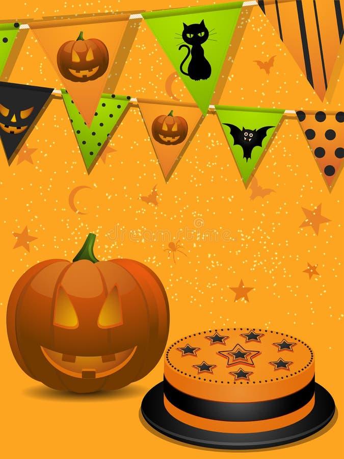 Fundo do partido de Halloween ilustração stock