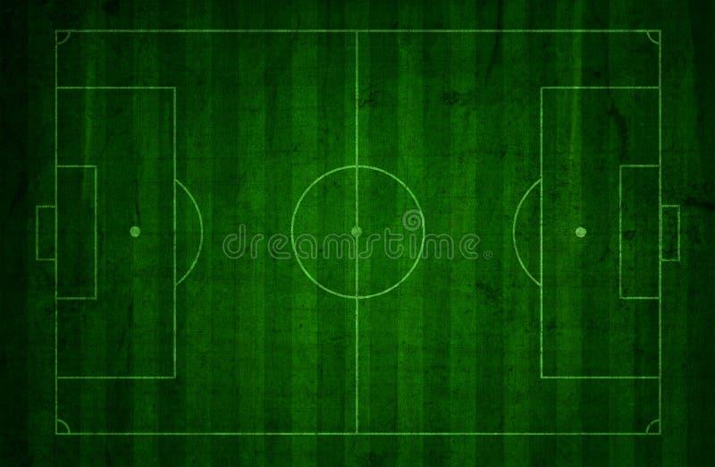 Fundo do passo do futebol do Grunge ilustração do vetor