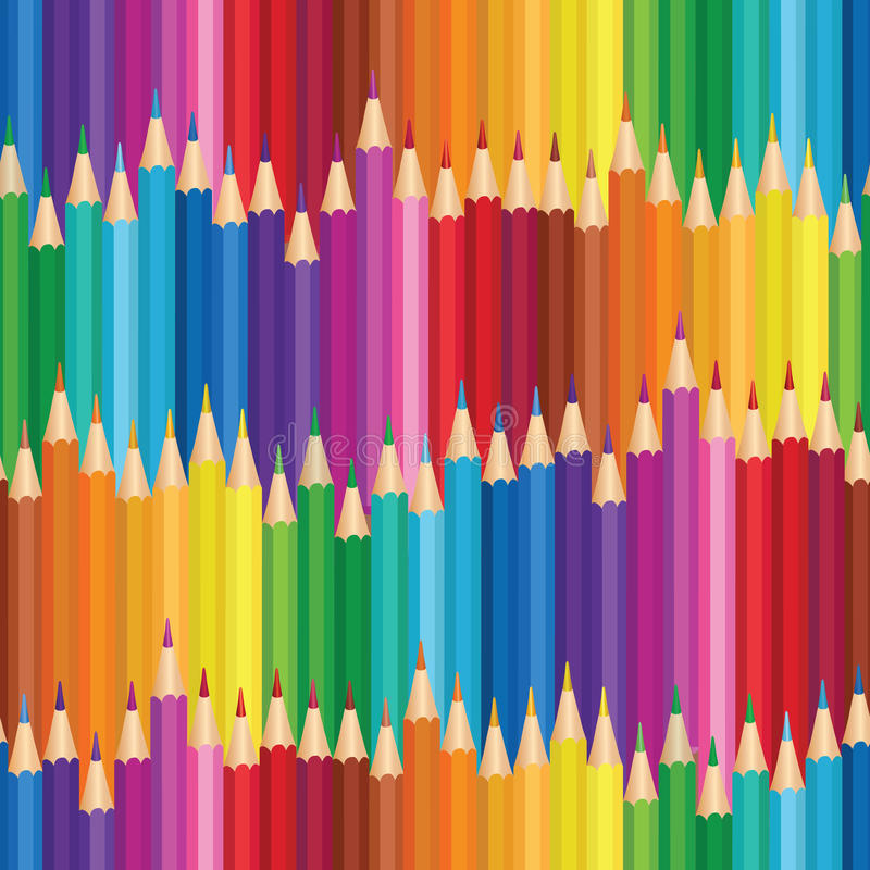 Fundo do pastel Teste padrão sem emenda do lápis colorido ilustração do vetor