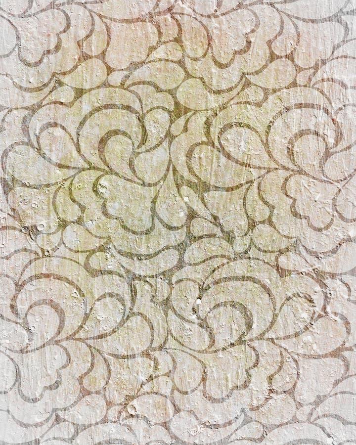 Fundo do patternt do vintage ilustração royalty free