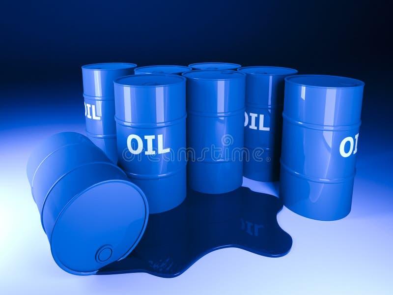 Fundo do petróleo do tambor ilustração do vetor