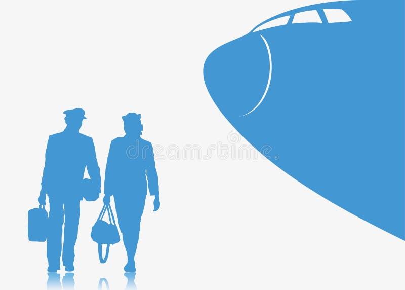 Fundo do piloto e do stewardess ilustração do vetor