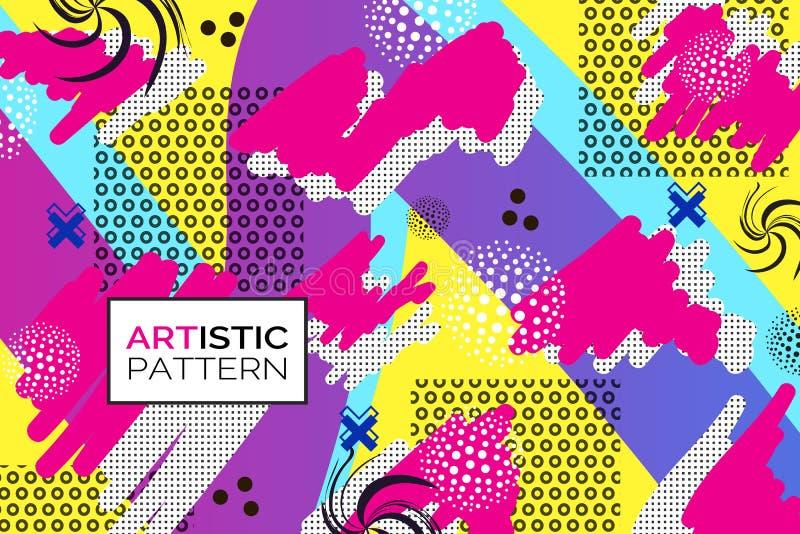 Fundo do pop art ilustração do vetor